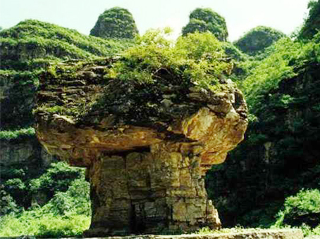 万景仙沟风景区~香炉石(蘑菇石)